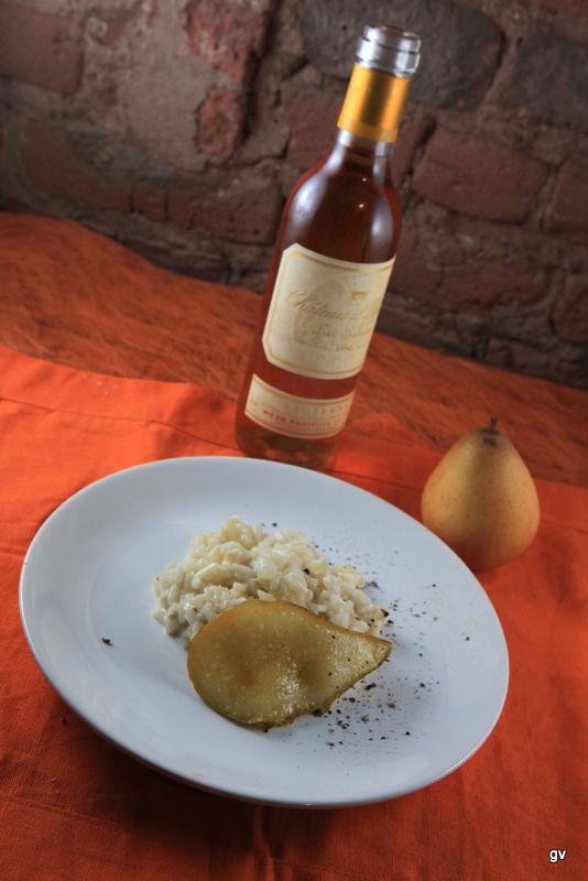 Risotto aux poires et au gorgonzola