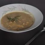 Soupe aux cicerchie et mlatagliati