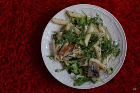 Salade de pâtes au hareng fumé