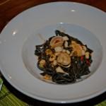 tagliatelles noires calamar coquillages