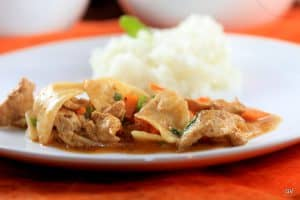 Curry coréen au poulet et légumes