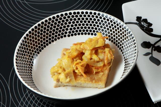 Tofu déshydraté séché avec oeuf battu