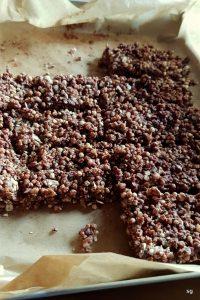 Barres au chocolat, noisettes et quinoa soufflé