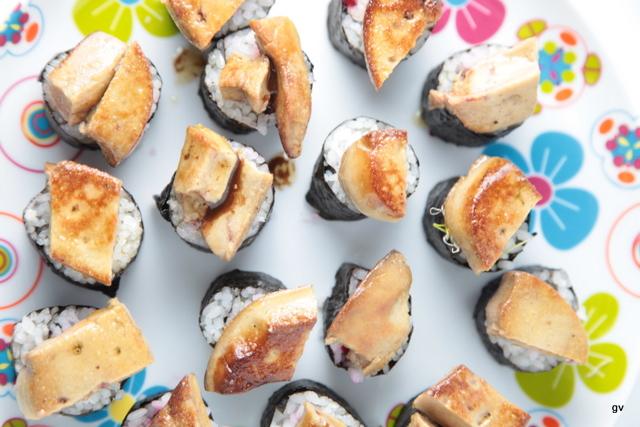 Sushi au foie gras