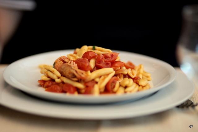 Strascinati crevettes et tomates