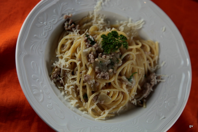 Spaghettis aux chicons