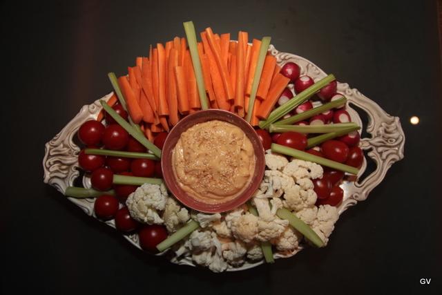 Légumes sauce aoili miso