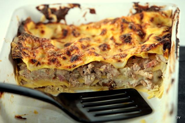 Lasagne aux poireaux - champignons des bois