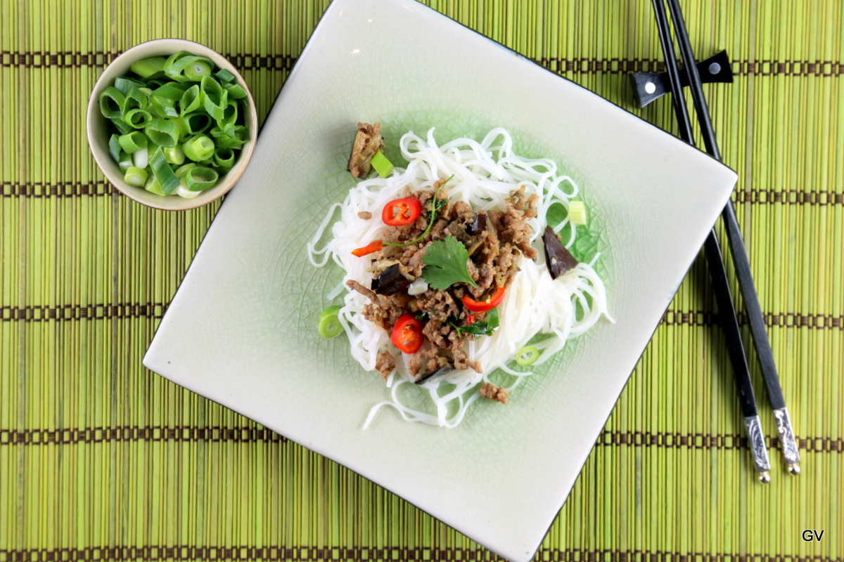 Nouilles de riz à la façon de Malika